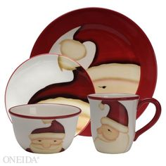 Jolly Santa - I've always, always wanted a set of Christmas dishes to use when friends and family join my husband and I for our holiday gatherings.  Whimsical