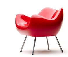RM 58 Armchair Limited Edition Red / White shop now: www. Concrete Furniture, Sofa Furniture, Furniture Design, Bauhaus, Red And White Shop, Sofa Seats, Retro Furniture, Cool Chairs, Home Living