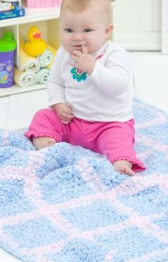 Simple Squares Blanket Free Crochet Pattern from Red Heart Yarns