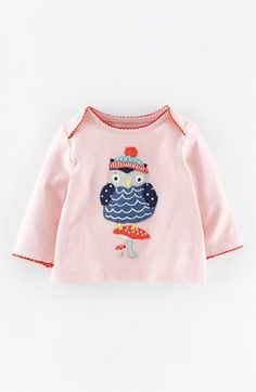 Free shipping and returns on Mini Boden 'Patchwork Appliqué' Tee (Baby Girls) at Nordstrom.com. An irresistible appliqué and sweetly scalloped trim take this tee from charming to all-out oodles of cute.