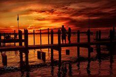Sunset at at Key Largo, Florida