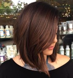 Angled Chocolate Brown Lob - Tap the Link Now to Shop Hair Products, Beauty Products and Kitchen Gadgets Online at Great Savings and Free Shipping!! https://getit-4me.com/
