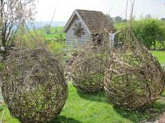 Inspiration 271 Best Images About Willow On Gardens, Popular Collection Willow Garden Sculptures Willow Garden, Garden In The Woods, Garden Art, Garden Design, Reading Garden, Living Willow, Willow Weaving, Garden Structures, Garden Projects