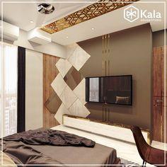 Bedroom Bed Design, Bedroom Furniture Design, Home Room Design, Bed Furniture, House Design, Tv Unit Interior Design, Tv Unit Furniture Design, Lcd Wall Design, Wall Decor Design