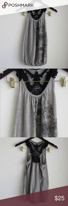 Lavish Maternity Gray and Black Tank Top This is a women's new Lavish Maternity gray and black tank top in size small. Great for casual wear and also to the gym. Lavish Maternity Tops Tank Tops
