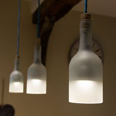Bottle Pendant Lights by Max Ashford | Please subscribe to my weekly newsletter at upcycledzine.com !#upcycle