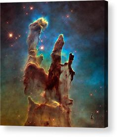 Pillars of Creation Acrylic Print for sale. The NASA/ESA Hubble Space Telescope has revisited one of its most iconic and popular space images: the Eagle Nebulas Pillars of Creation. The image gets printed directly onto the back of a sheet of clear acrylic. The image is the art - it doesn't get any cleaner than that! Matthias Hauser - Art for your Home Decor and Interior Design. Credit: NASA, ESA/Hubble and the Hubble Heritage Team. Edit: M. Hauser