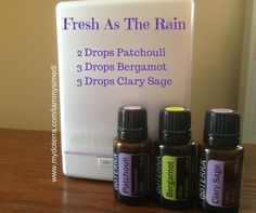 Fresh as the Rain Using Patchouli, Bergamot, and Clary Sage #doterra