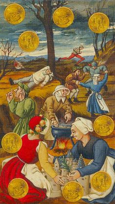 9 d'écus - Tarot Bruegel par Guido Zibordi Marchesi