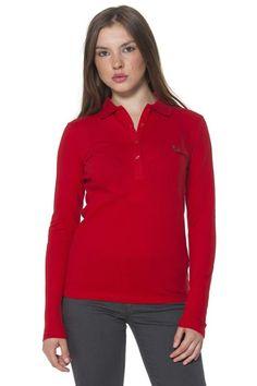 Polo Donna Fred Perry (BO-31162056 0230) colore Rosso