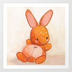 Buy Le lapin qui aimait bien causer Art Print by del4yo. Worldwide shipping available at Society6.com. Just one of millions of high quality products available.
