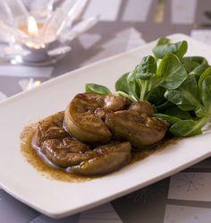 Escalope de foie gras poêlée au miel et vinaigre balsamique - les meilleures recettes de cuisine d'Ôdélices