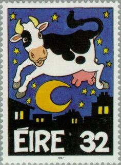 Sello: Farm animals (Irlanda) (Greetings) Mi:IE 981A,Sg:IE 1101