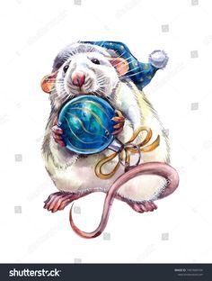 Christmas Drawing, Christmas Paintings, Christmas Scenes, Christmas Art, Cute Animal Drawings, Art Drawings, Funny Animal Comics, Tea Cup Art, Pug Art