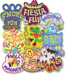 Great prices and cute designs. Snappy Logos, Inc. Not huge selection, but what they have is cute! Girl Scout Swap, Girl Scout Leader, Girl Scout Troop, Cub Scouts, Cool Patches, Cheap Patches, Girl Scout Fun Patches, American Heritage Girls, Girl Scout Badges
