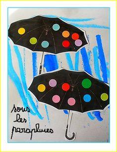 Des traits verticaux, de gommettes couleurs et des parapluies noirs, voici notre météo du jour !