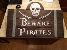 styrofoam sheet to wood sign with straps   Pirate Tavern Sign-image.jpg diy make it how to
