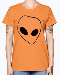 Pocket Alien - Concept Art-  Missy T-Shirt - Orange / XL