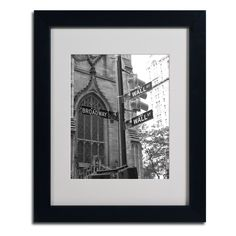 Wall Street Signs by Chris Bliss Matted Framed Photographic Print