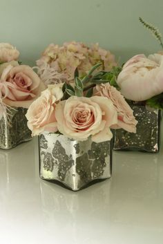 New Wedding Small Centerpieces Blush Pink 29 Ideas Picture Wedding Centerpieces, Small Centerpieces, Wedding Decorations, Centerpiece Ideas, Blush Centerpiece, Decor Wedding, Blush Flowers, Pink Roses, Wedding Flowers