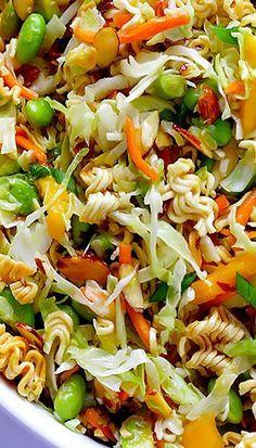 Asian Ramen Noodle Salad (a. Basically the Best Potluck Salad EVER) . Crunchy Asian Ramen Noodle Salad (a. Basically the Best Potluck Salad EVER) Crunchy Asian Ramen Noodle Salad (a. Basically the Best Potluck Salad EVER) Vegetarian Recipes, Cooking Recipes, Healthy Recipes, Vegetarian Salad, Cooking Pork, Cooking Salmon, Veggie Recipes, Free Recipes, Asian Ramen Noodle Salad