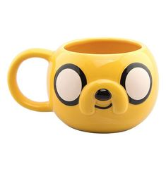 GB eye Adventure Time Jake - Tazza in ceramica, 14 x x cm Adventure Time Merchandise, Nintendo Console, Pretty Mugs, Four Micro Onde, Jake The Dogs, Novelty Mugs, Cool Mugs, Cork Crafts, Funny Mugs