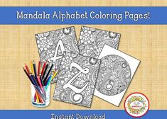Printable Adult Coloring Pages, Alphabet Coloring Pages, Coloring Books, Learning Resources, Teacher Resources, Teaching Ideas, Learn To Spell, Learn To Count, Abc Tracing