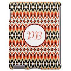 Oriental tribal rhombus native pattern monogram #native #tribal #classic #duogram #case #name #custom #cover #gift #elegant #classy #girly