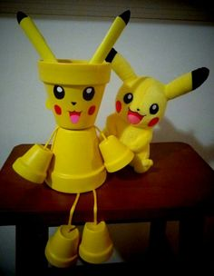 My Pikachu clay pot