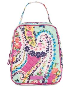 a7e57cb09879 Vera Bradley Signature Lunch Bunch Bag - Wildflower Paisley Storage  Containers