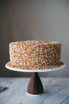 chocolate peanut butter sprinkle cake   my name is yeh