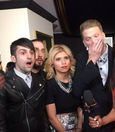 PTX when they found out that they won a Grammy.>> Omgosh Kirstie's face.
