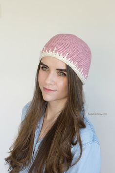 CROCHET PATTERN - Strawberry Sorbet Hat, Vintage Inspired