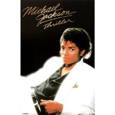 A classic poster of Michael Jackson from his mega-selling 1982 LP Thriller! Still one of the best pop records of all time. Need Poster Mounts. Michael Jackson Poster, Michael Jackson Album Covers, Michael Jackson Thriller, Mike Jackson, Jackson Music, 80s Music, Good Music, Thriller Album, Nostalgia