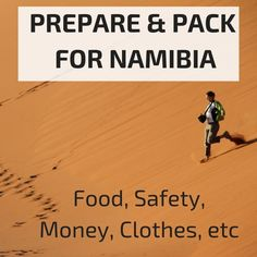 Detailed information to help you prepare and pack for your trip to Namibia: safety, clothes, food, money matters. Budget Travel, Travel Tips, Travel Stuff, African Holidays, Namibia, Holiday Resort, Travel Articles, Money Matters, Africa Travel