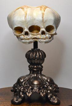 Conjoined Twins Fetal Skull Display by Dellamorteco on Etsy