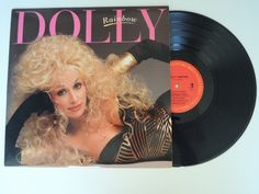 VINTAGE VINYL Dolly Parton Rainbow Record Album Los Angeles by HouseCandyLA