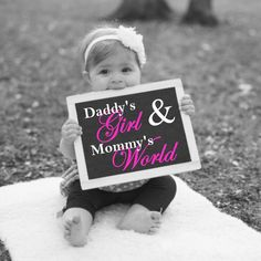 Daddys Girl And Mommys World, Printable Nursery Art, Baby Girl Nursery Art, Childrens Wall Art, Photo Prop, Daddys Girl, Instant Download by PrintsInspiredByMyah on Etsy