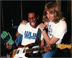 Guitarist Hiram Bullock & bassist Will Lee.