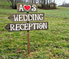 Wedding Arrow Signs Wood Wedding Signs by CountryWeddingSigns