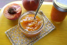 Spiced Peach Jam 6  Spiced Peach Jam Recipe  Ingredients: About 4 pounds fresh peaches ¼ cup lemon juice (do not use Meyer lemons) 4 cups granulated sugar 2 cinnamon sticks 4 coins cut from fresh ginger – about ¼ inch thick