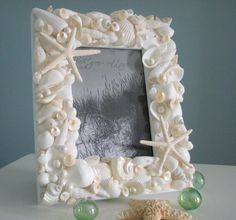 Seashell Frames for Beach Decor - Nautical Beach