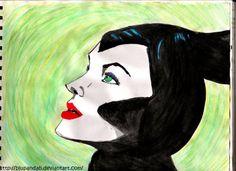 Maleficent by BluPandah.deviantart.com on @DeviantArt