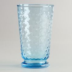 One of my favorite discoveries at WorldMarket.com: Aqua Hobnail Highball Glasses, Set of 4