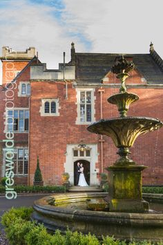Bride and Groom outside Pendrell Hall Country House Wedding Venues, Wedding Photos, Wedding Day, Bride Photography, Beautiful Wedding Venues, Mansions, Bridal, House Styles, Photo Ideas