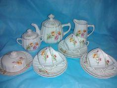 Jogo de porcelana para chá marca Real - museu Fragmentos do Tempo