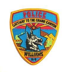 WILLIAMS ARIZONA K-9 POLICE PATCH GATEWAY