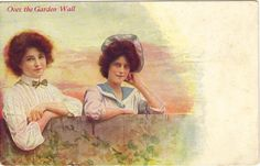 #Vintage #Postcard Ladies Maidens Garden Wall by #postcardsintheattic @Colleen Cornelius