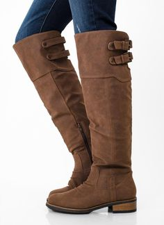 Brown Boots - Whiskey Brown Knee High Boots | UsTrendy