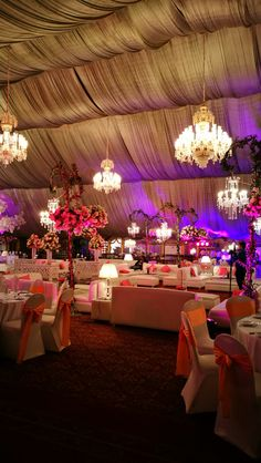 Pink and gold fairy tale birthday party theme decoration setup purple pakistani wedding reception stage decoration setup designed by tulips events management in lahore pakistan junglespirit Image collections